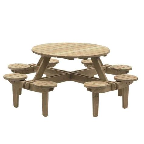 round picnic bench gleneagles round picnic table andy thornton