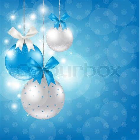 merry christmas silver  blue stock vector colourbox