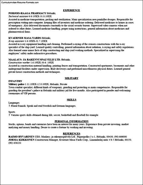 Resume Templatecom resume template free sles exles format