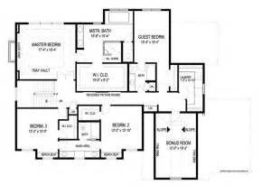 Floorplan Of A House Kensington 8993 4 Bedrooms And 3 Baths The House Designers