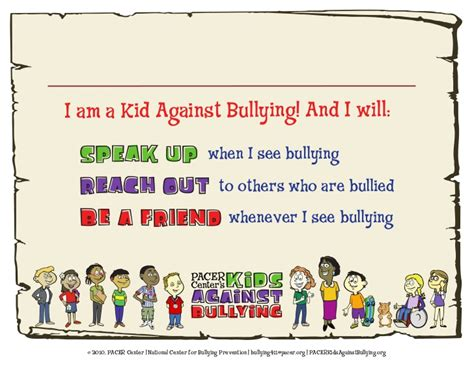 Anti Bullying Certificate Anti Bullying Contract Template