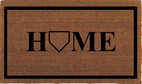 Baseball Home Plate Doormat baseball home plate door mat coir doormat rug by franklinandfigg