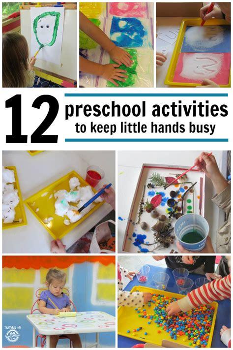 kindergarten activities hands on 12 preschool activities to keep little hands busy