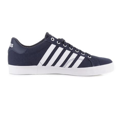 mens k swiss belmont so t navy white canvas tennis shoes
