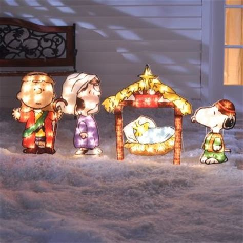 peanut characters manger scene google search christmas