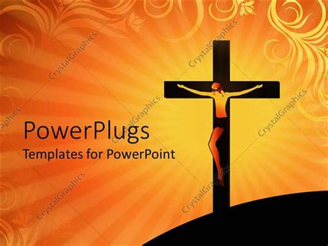 powerpoint themes jesus powerpoint template crucifixion of jesus christ on cross