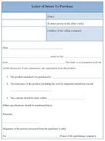 letter of intent to purchase template of letter of intent