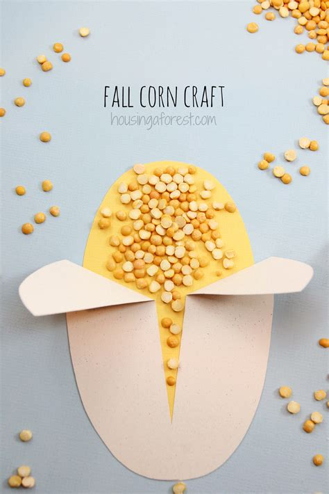 easy crafts for preschoolers easy corn craft housing a forest