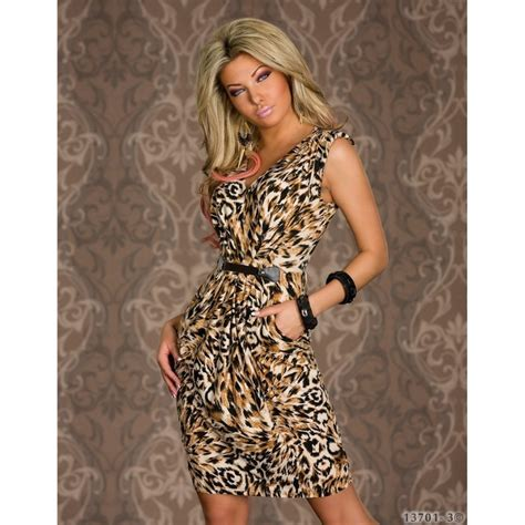 Leopard Print Summer by Fashion Vintage Animal Leopard Print Dress