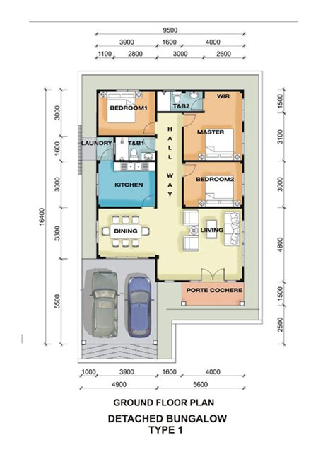 bungalow ground floor plan brunei residential housing commercial projects semi