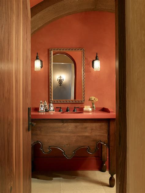 Colored Toasters Design Ideas Splashy Coral Colored Artwork Vogue San Francisco Mediterranean Bathroom Decorating Ideas With