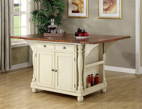kitchen island table with storage buttermilk cherry wood kitchen island cabinet wine rack storage 102271 contemporary dining