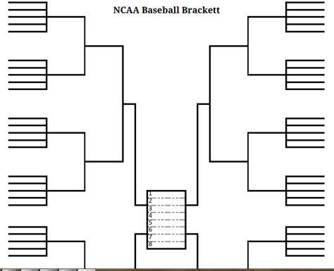 Printable Brackets Printable Blank Bracket Baseball Tournament Bracket Template