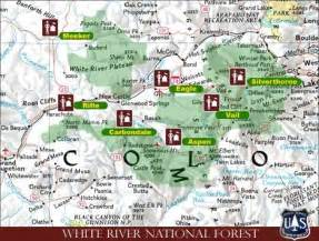 national forest cgrounds colorado map white river national forest sheets travel