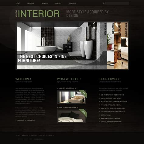 interior designer websites interior design website template 25162