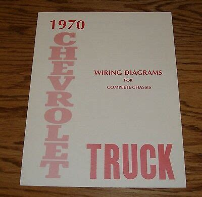 chevrolet truck wiring diagram manual  complete chassis  chevy ebay