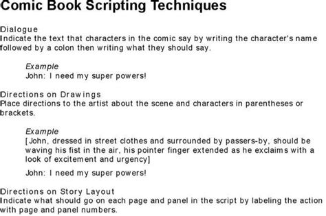 comic book script template letter template free premium templates forms