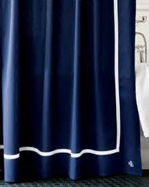 Classic shower curtain for the bath choose navy shown bay