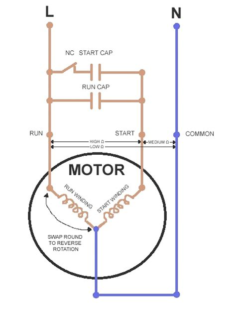 potential start relay capacitor diagram wiring diagrams