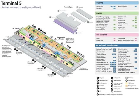 Heathrow Airport Terminal 5 Arrivals Map | image gallery lhr map
