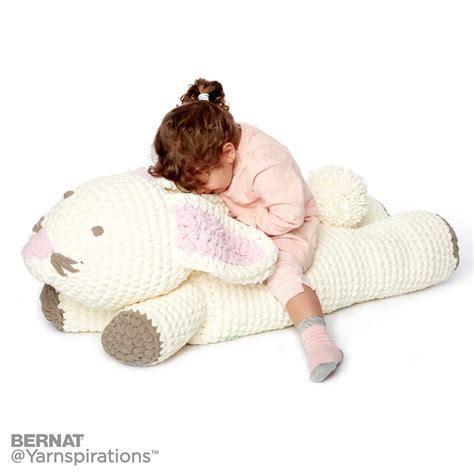 floor pillow pattern crochet bunny floor pillow crochet pattern yarnspirations