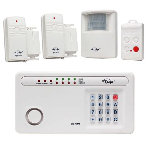 skylink wireless security system alarm kit sc 100 security