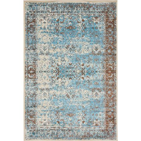 unique loom istanbul blue 3 ft x 9 ft 10 in runner rug