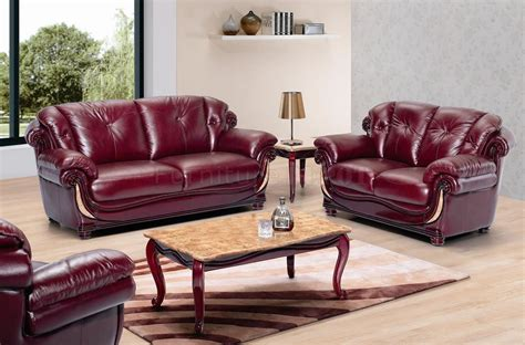 Burgundy Leather Sofa Set Burgundy Leather Sofa Sets Loccie Better Homes Gardens Ideas