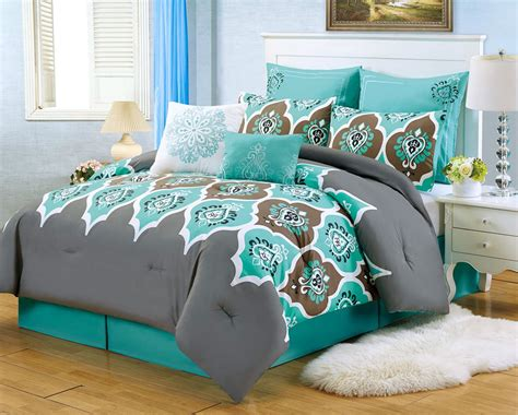 Teal And Gray Curtains Decorating Teal Bedroom Ideas With Many Colors Combination