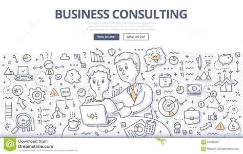 doodle business free business consulting doodle concept stock vector image