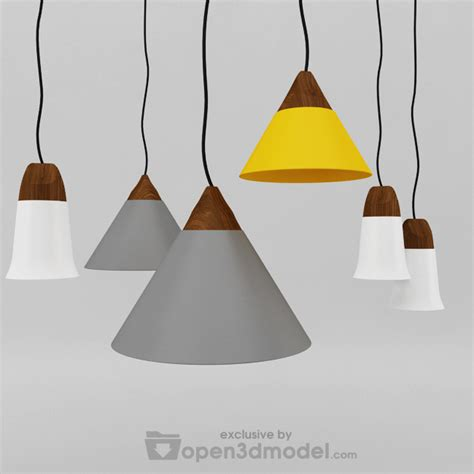 Slope Ceiling slope pendant lamp 3dsmax model vray free download 3d