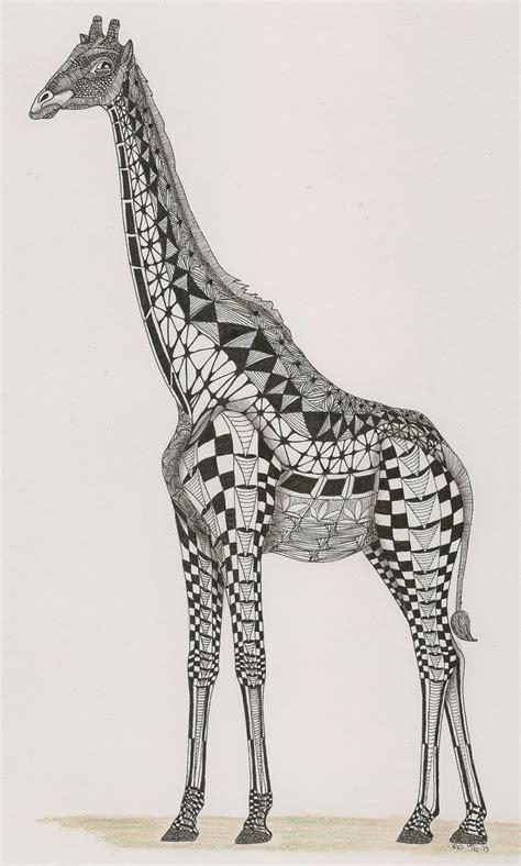zentangle pattern giraffe adri van garderen giraffe template by ben kwok