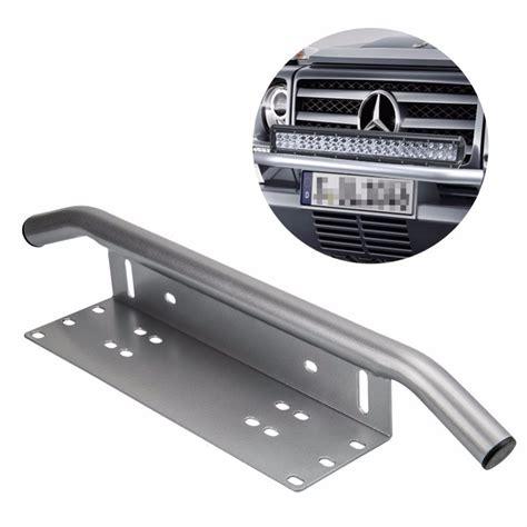 Bumper Set Bumbee 1 chrome license plate holder light bar mount front bumper number plate frame for offroad led