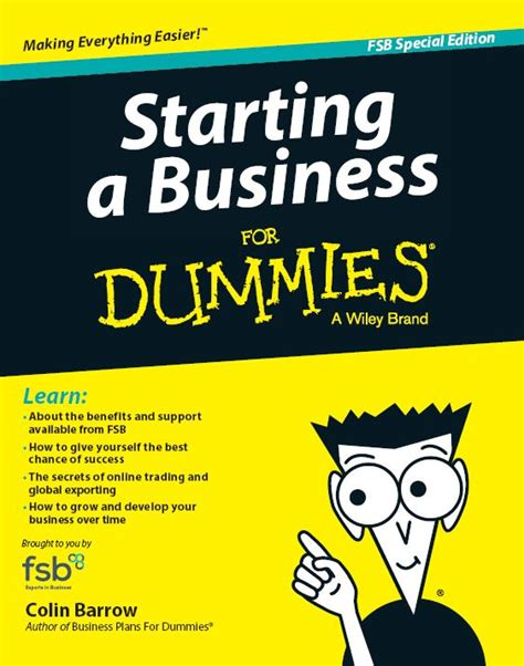 getting your for dummies books starting a business for dummies book customised for fsb
