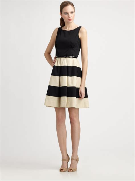 Celina Dress kate spade new york celina stripedskirt dress in black lyst