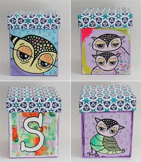 the 84 best images about box decorated on owl