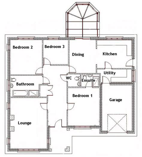 smallest 3 bedroom house 3 bedroom bungalow floor plans 3