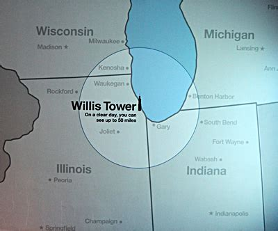 where is willis on a map can you see iowa from the sears tower observation deck