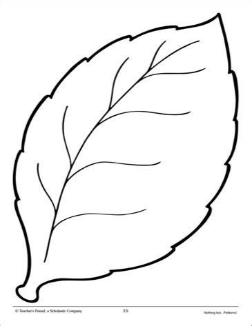 Leaf Large Pattern Scholastic Printables Teaching Profession Pinterest Leaves Patterns Leaves Template To Print
