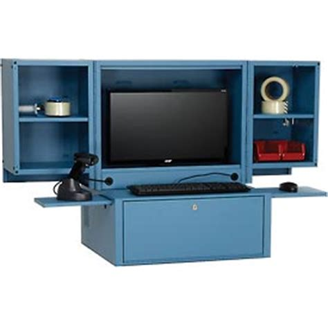 Secure Countertop To Cabinet by Computer Furniture Computer Cabinets Counter Top Fold