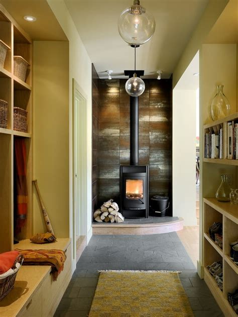 wood burning stove tile home design ideas pictures