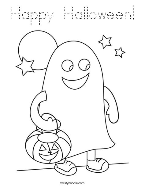 happy ghost coloring pages happy halloween coloring page tracing twisty noodle
