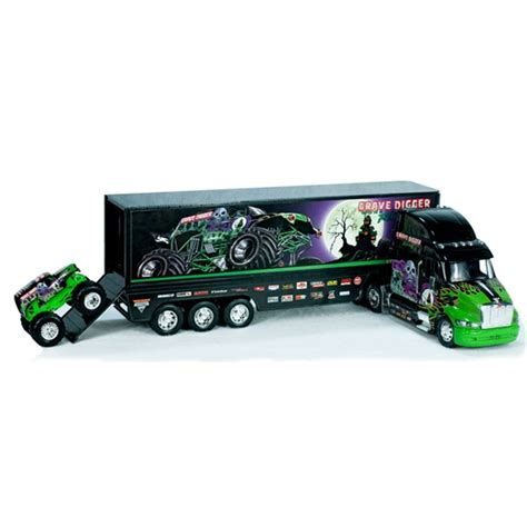 grave digger toy monster truck grave digger monster hauler