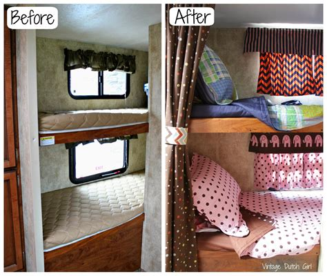 vintage dutch girl travel trailer makeover part 9 bunk