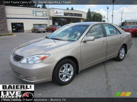 2004 toyota camry le v6 desert sand mica 2004 toyota camry le v6 taupe