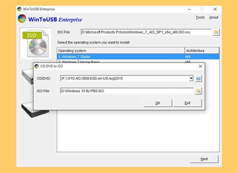 wintousb windows 10 tutorial 7 free tool to create bootable windows 7 10 on a usb drive