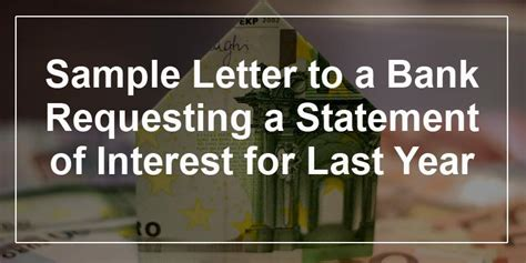 Bank Letter Of Interest bank statement request letter format in cover