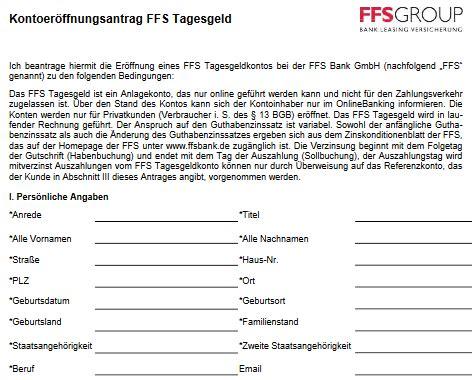 ffs bank ffs bank tagesgeldkonto im test erfahrungen testbericht