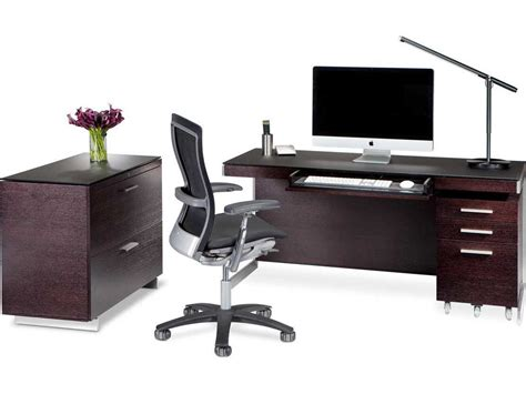 bdi sequel espresso stained oak office set bdi6001esset7