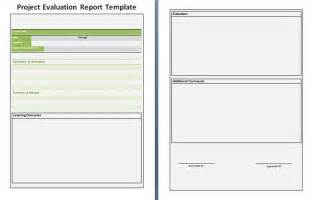 template for evaluation report project evaluation report free reports